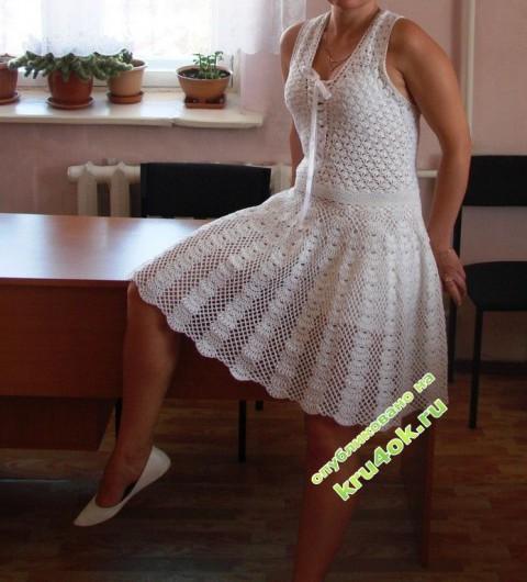 вязаное крючком платье фото