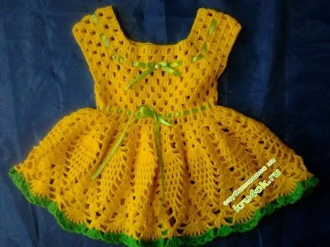 Желтое платье для девочки - работа Анны