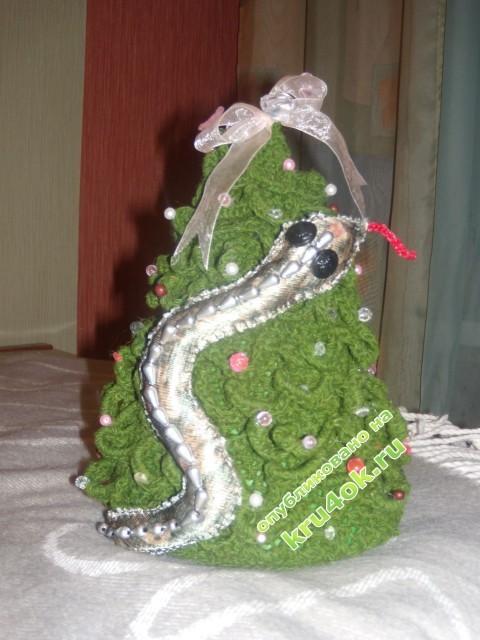 фото вязаной крючком елочки