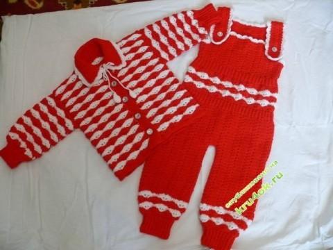 фото вязаного крючком детского костюма