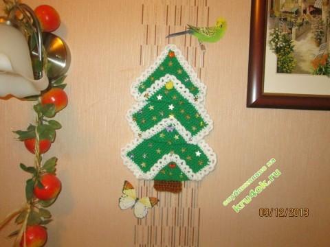фото вязаной елочки