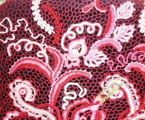 фото вязаной  крючком кофточки