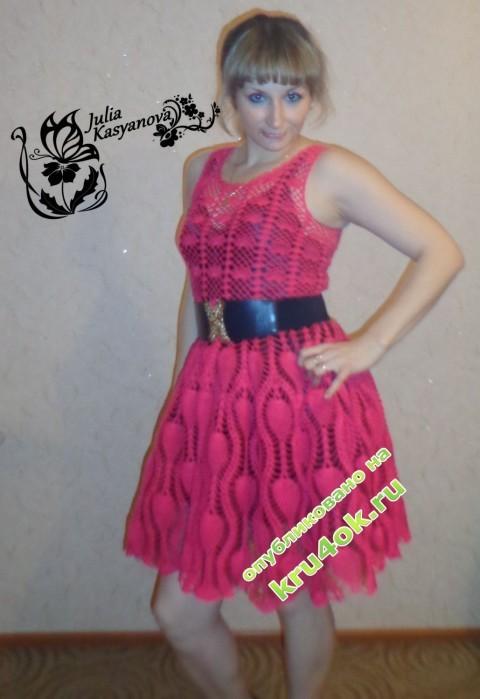 ажурное платье крючком фото