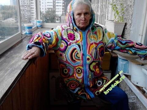 фото вязаной крючком куртки