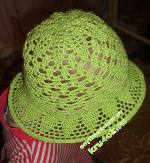 фото шляпки для девочки крючком