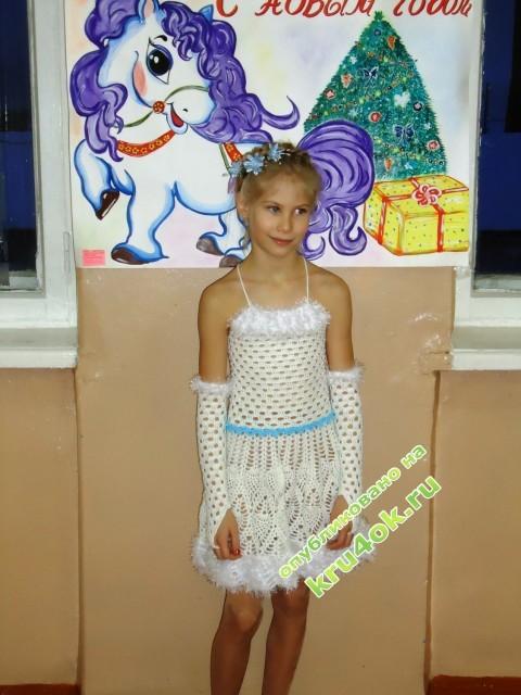 Ажурное платье для девочки фото