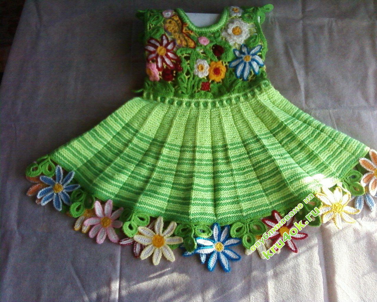 платья крючком для девочек 1 года со схемами