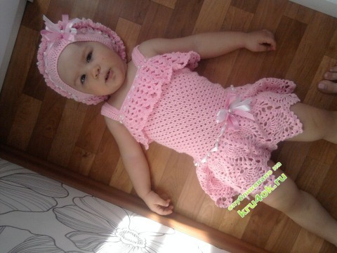 Платье, болеро и берет для девочки