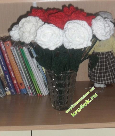 фото вязаных крюком цветов