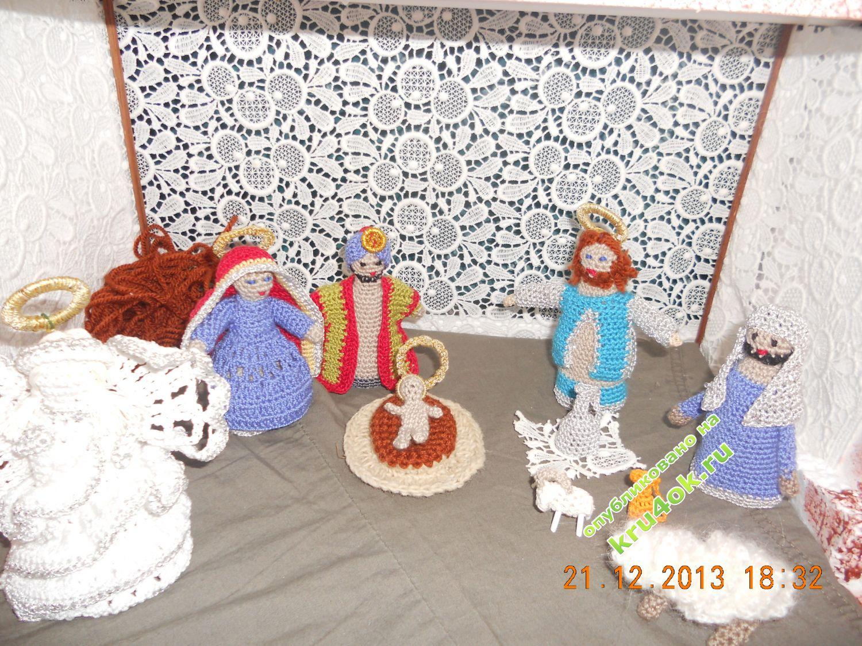 вязание крючком к рождеству схемы