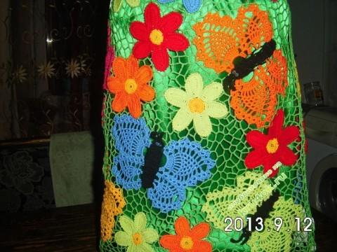 Вязаная юбка - работа Резеды