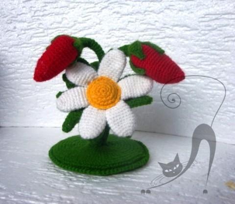 фото вязаного крючком цветка