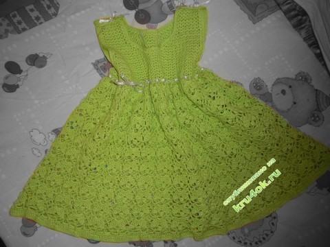 Вязаное платье для девочки фото