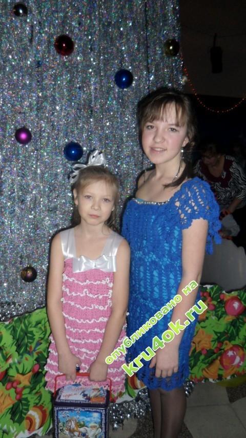Вязаные детские платья фото