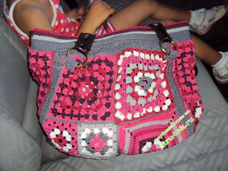Вязание квадратные сумочки