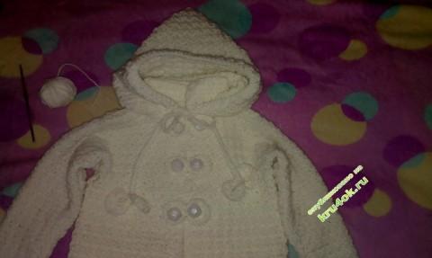 Детское пальто, связанное крючком фото