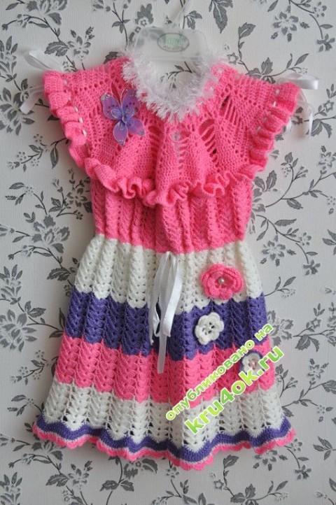 Детское платье крючком фото