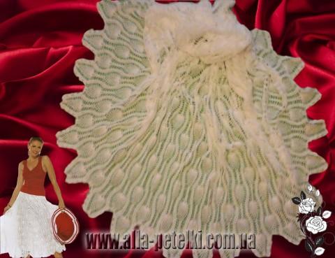ажурная юбка крючком фото