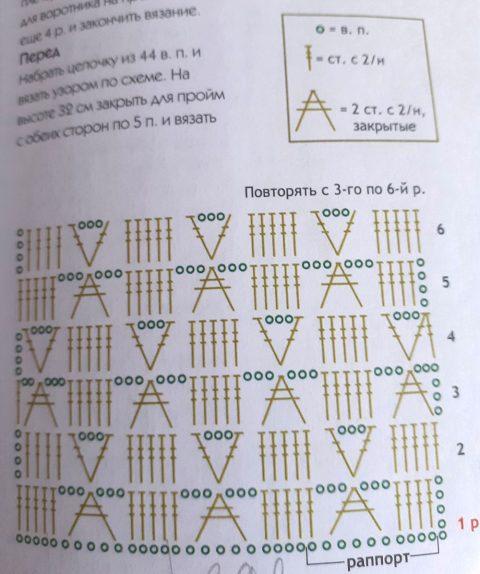 Схемы вязания жилета: