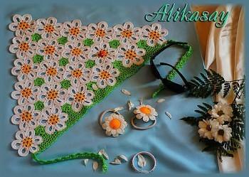фото вязаной крючком косынки