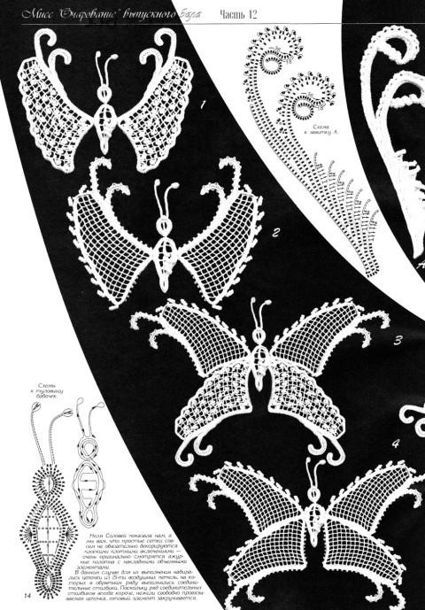 схема вязаняи платья