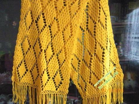 фото вязаного крючком палантина