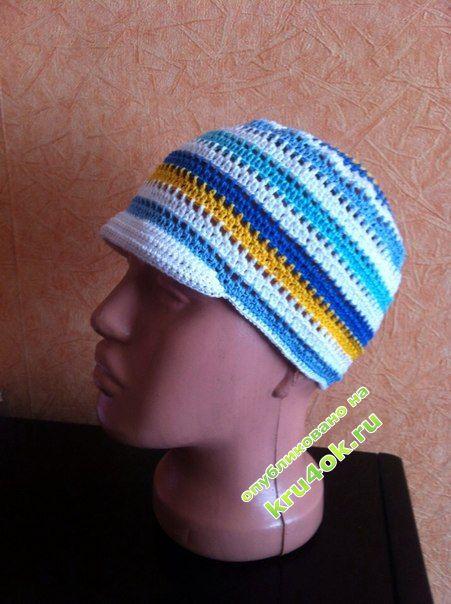 фото вязаной крючком панамки для мальчика