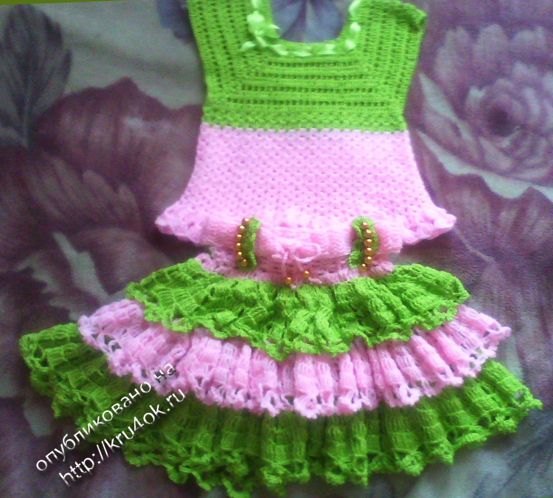 вязание крючком юбки и ттуники для девочки