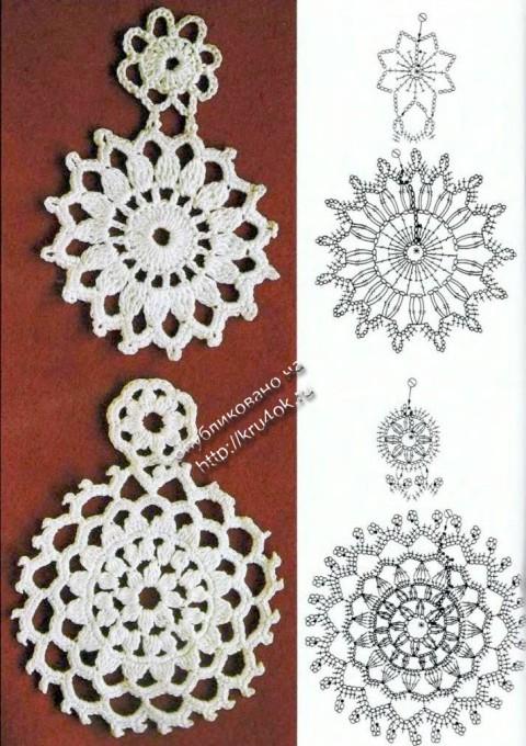 Ажурное платье крючком схемы вязания
