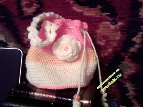Детская сумочка крючком фото