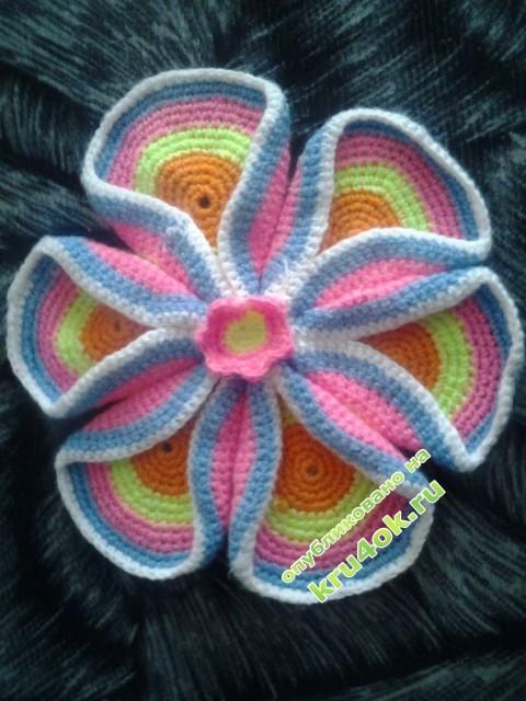 Цветок из кружочков - работа Лизы