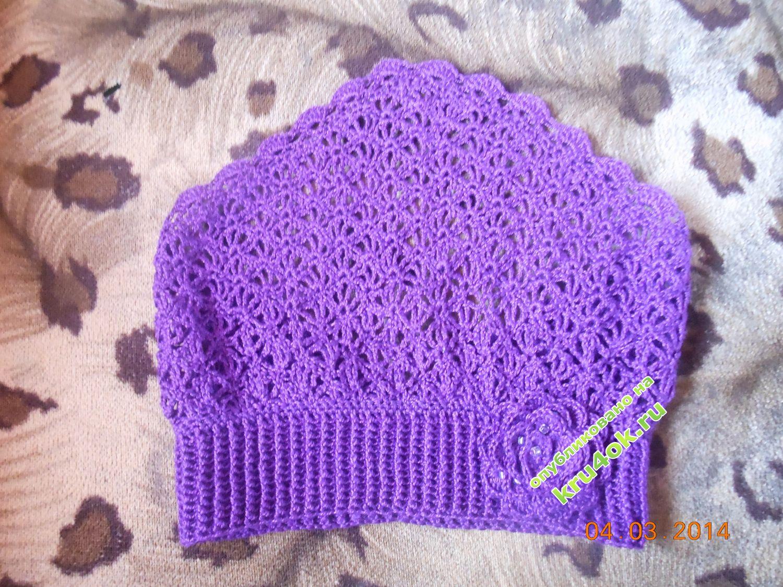 схема вязаной косынки для девочки