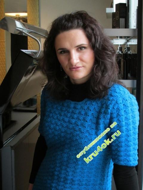 Вязаное крючком платье - работа Виктории