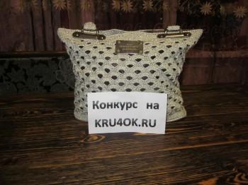 Вязаная крючком сумочка - работа Резеды