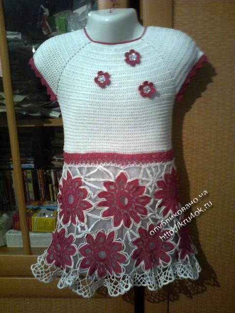 Вязаные детские платья - работы Светланы