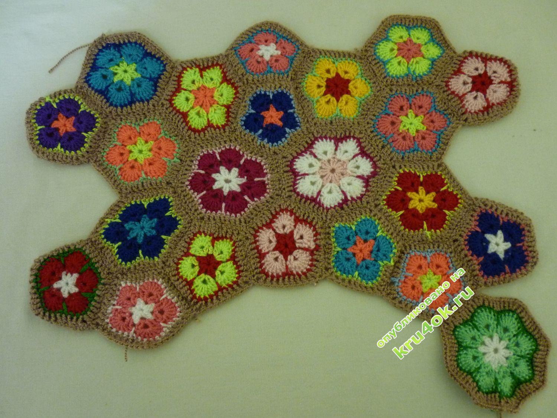 Вязание крючком африканский цветок схема фото 176