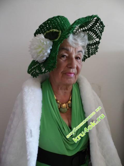 Вязаные шляпы - работы Валентины