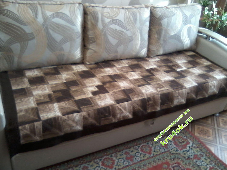 Вязание крючком плед на диван