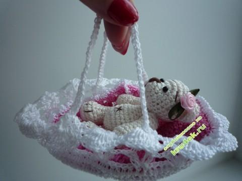 Вязаный крючком мишка - работа Ирины