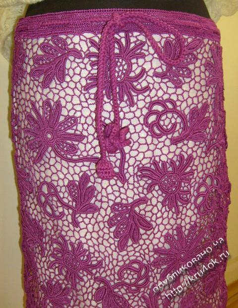 юбка в технике ирландского кружева
