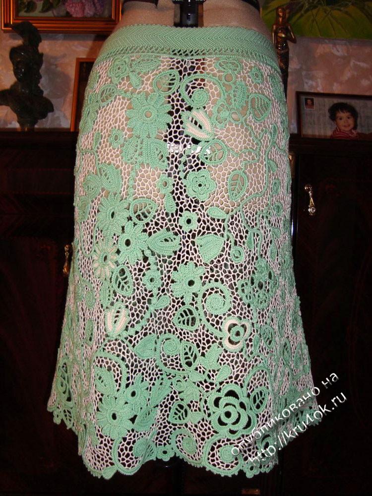 юбка в технике ирландского