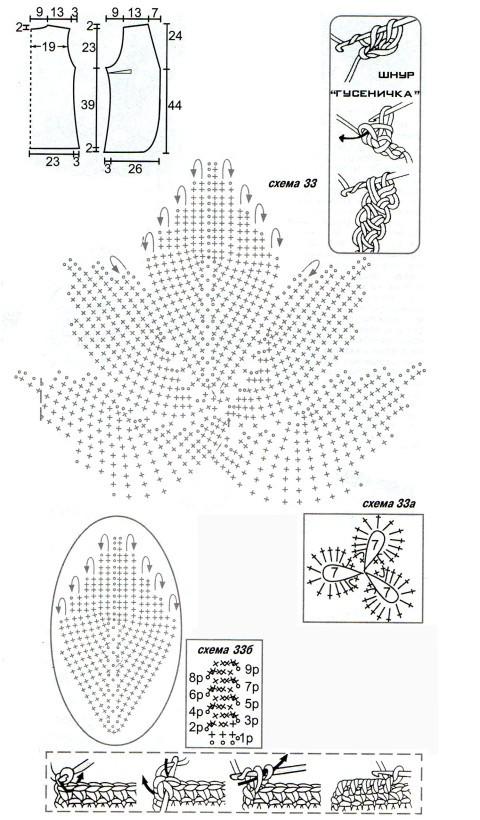 Схемы вязания безрукавки