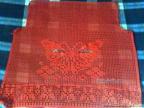 красная туника связанная крючком