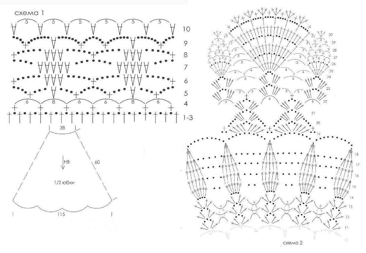 Осинка схемы вязания 3