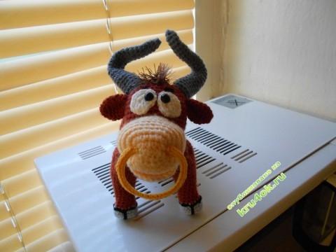 Вязаные игрушки - работы Анны