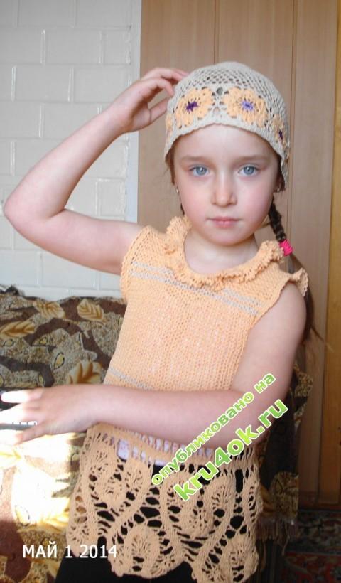 Летняя шапочка - работа Татьяны