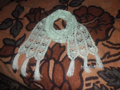 Ажурный шарфик - работа  Анны Кымылдан