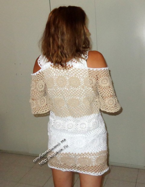фото вязаной крючком туники