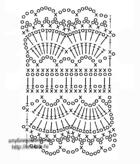 схема вязания повязки