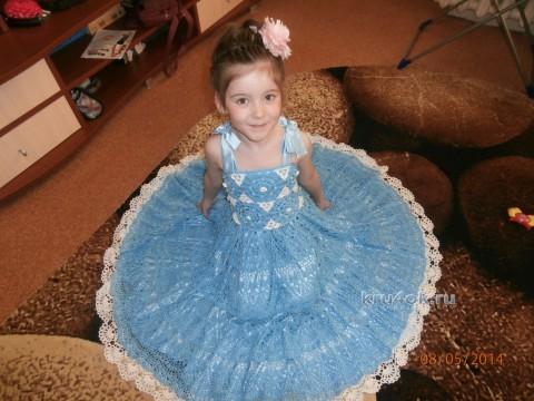 Детское платье крючком. Автор Корякова Дарья